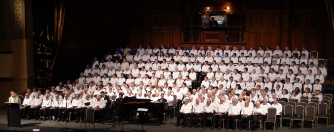 The Choir with other U3A choirs at Melbourne Town Hall 2014